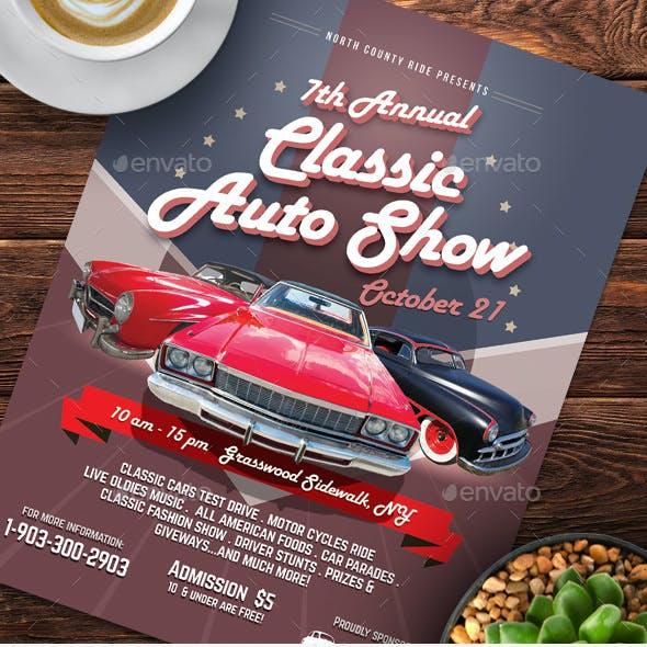 Classic Auto Show Flyers