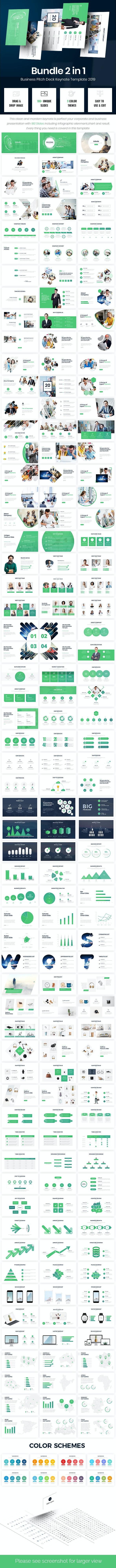 Bundle 2 in 1  Smartest Pitch Deck Keynote Template - Business Keynote Templates