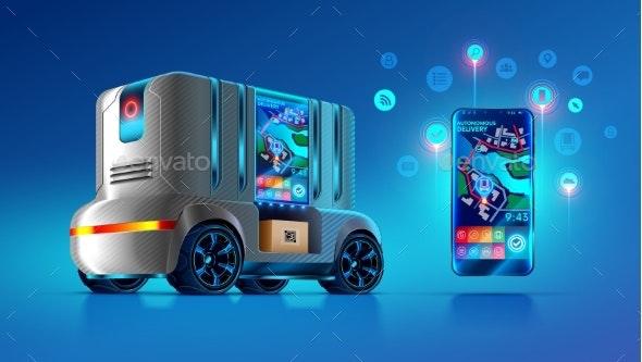 Autonomous Driverless Van Delivers and Ships - Communications Technology