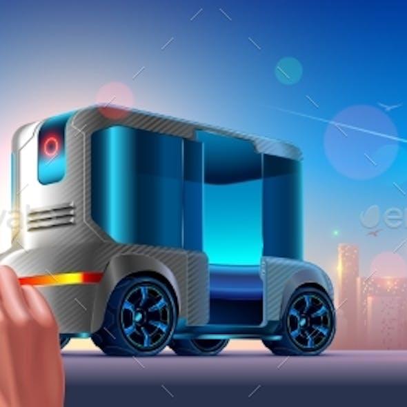 Autonomous Driverless Shuttle Public Bus