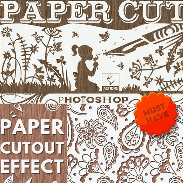 Paper Cutout Effect Photoshop Actions