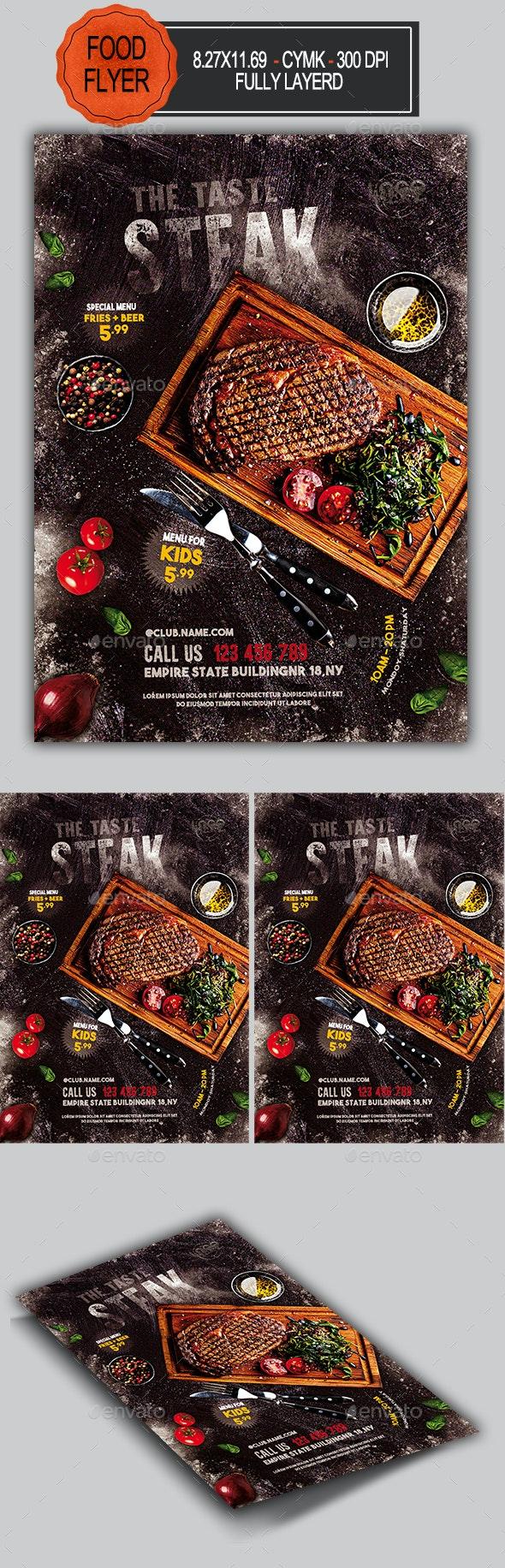 Steak House Flyer - Restaurant Flyers