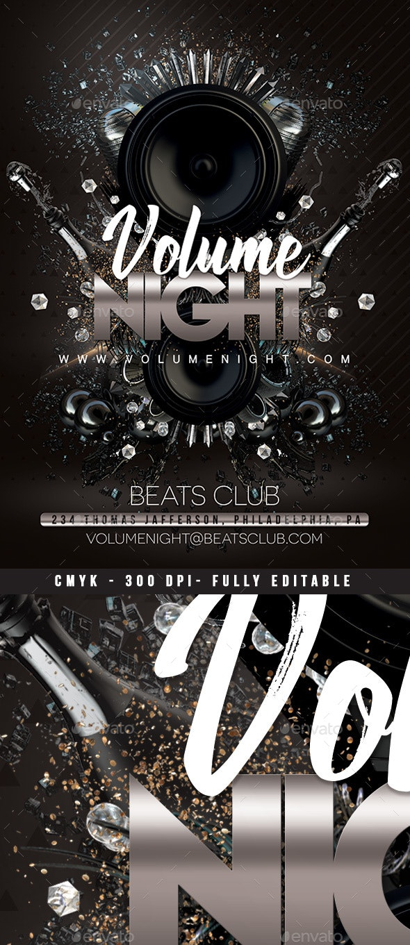 Volume Night Party Flyer - Clubs & Parties Events