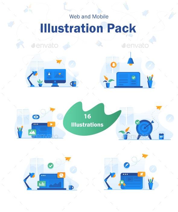 Illustration Pack - Web Technology
