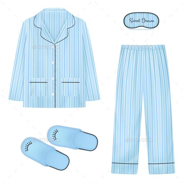 Nightwear Realistic Set - Miscellaneous Vectors