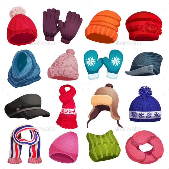Winter Fashion Outerwear Collection - Miscellaneous Vectors