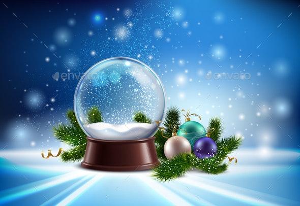 Snow Globe Realistic Composition - Christmas Seasons/Holidays