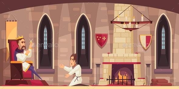 Castle Cartoon Scene - Buildings Objects
