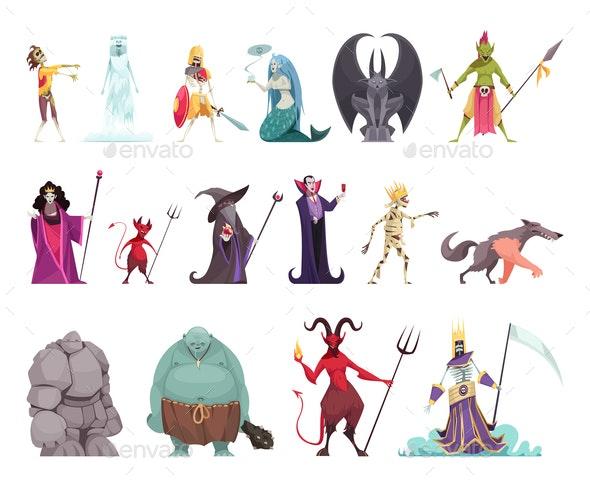 Evil Characters Fantasy Set - Miscellaneous Vectors
