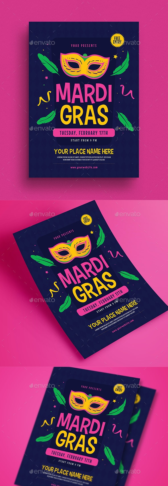 Mardigras Event Flyer - Events Flyers