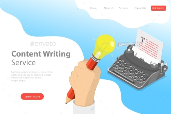 Flat Isometric Vector Landing Page Template - Industries Business