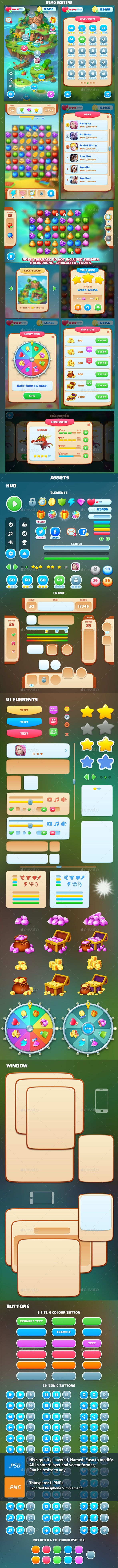 Games UI - User Interfaces Game Assets
