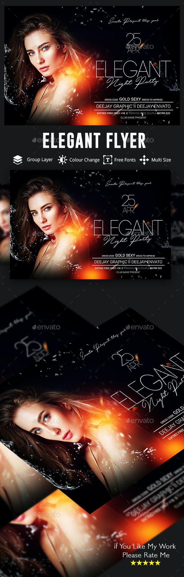 Elegant Ladies Night Party Flyer - Events Flyers