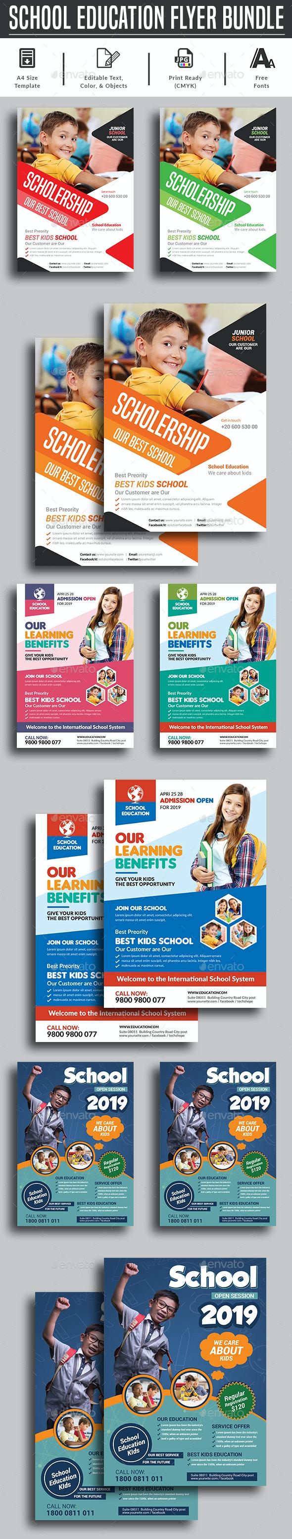 School Flyer Bundle Templates - Corporate Flyers