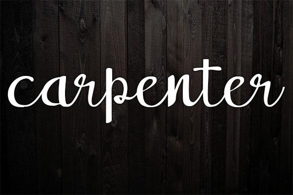 Carpenter - Hand-writing Script