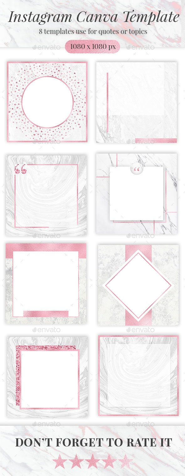 Blush Instagram Canva Templates - Social Media Web Elements