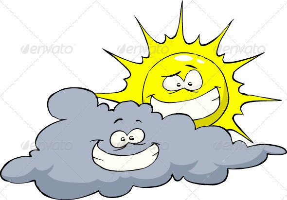Sun And Cloud - Seasons Nature