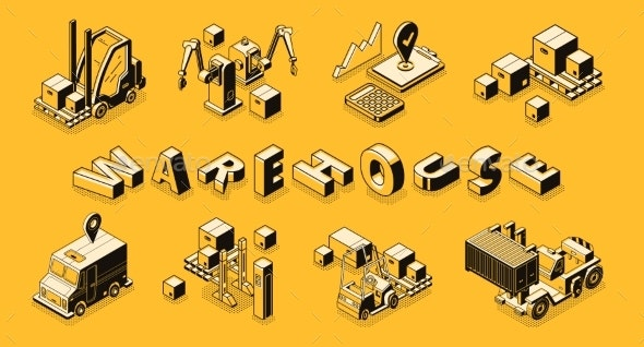 Retail Business Logistics Technologies Vector - Backgrounds Business