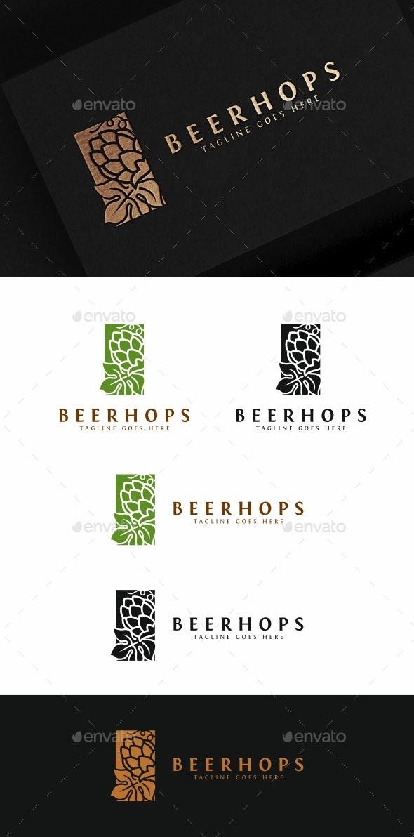 Beer Hops - Food Logo Templates