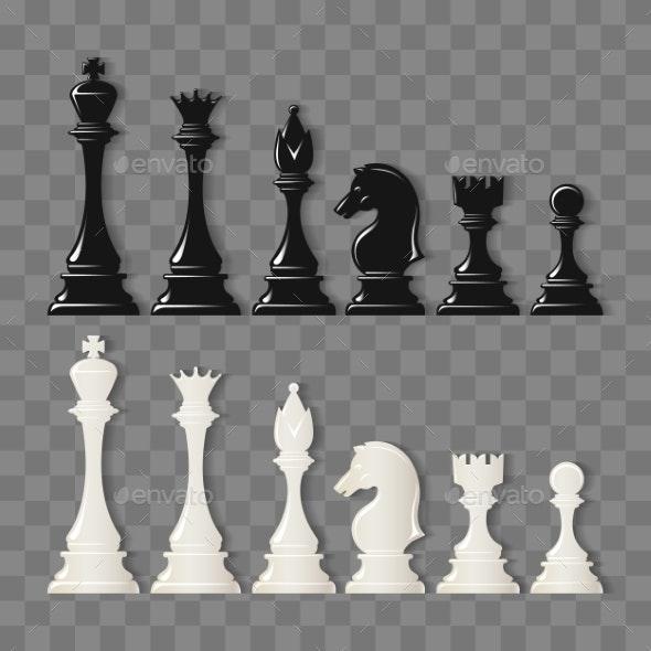 Checkmate Pieces on Transparent Background - Miscellaneous Vectors