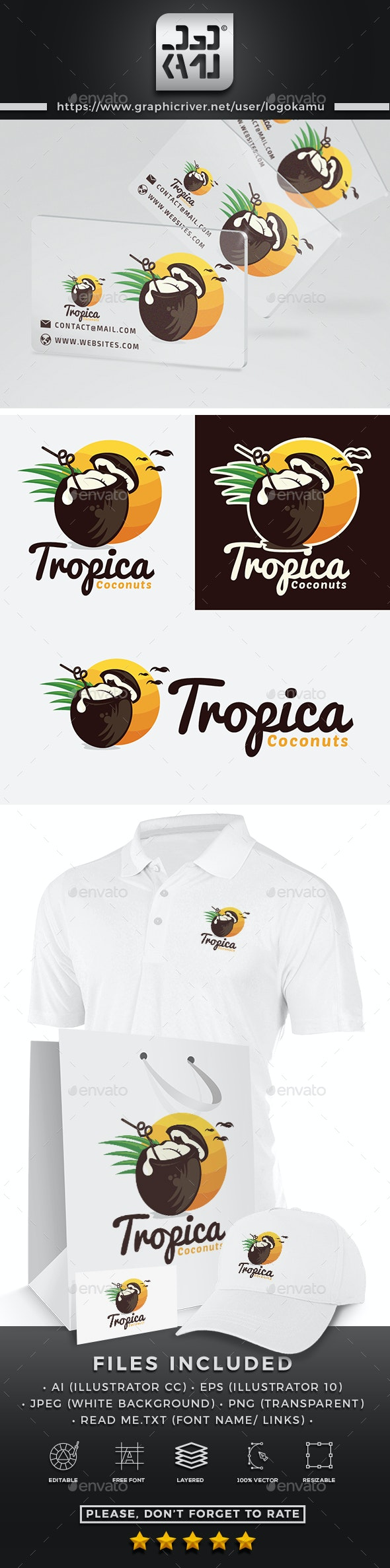 Tropical Coconut Drinks Logo