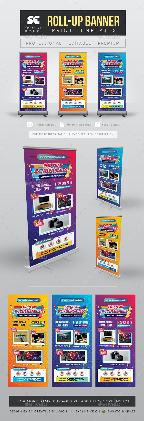 Sales Roll Up Banner - Signage Print Templates
