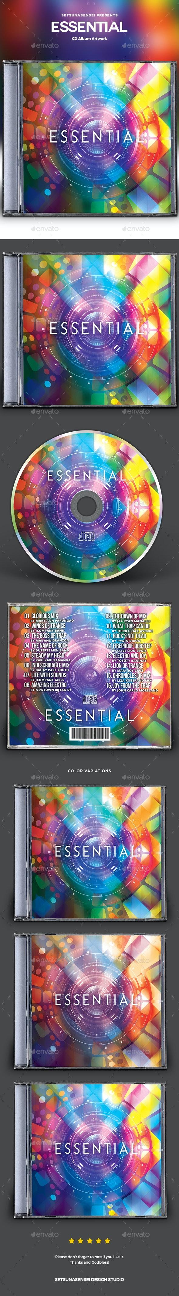 Essential CD Album Artwork - CD & DVD Artwork Print Templates