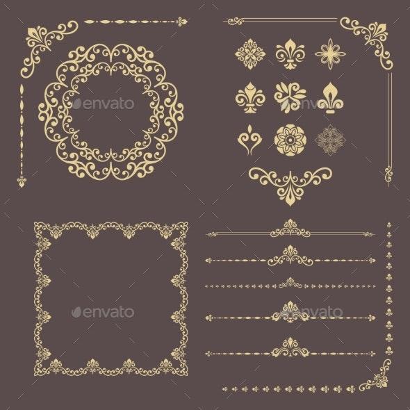 Vintage Set of Vector Decorations - Flourishes / Swirls Decorative