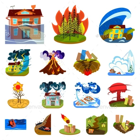 Vector Illustration of Cataclysm and Disaster Logo - Miscellaneous Vectors