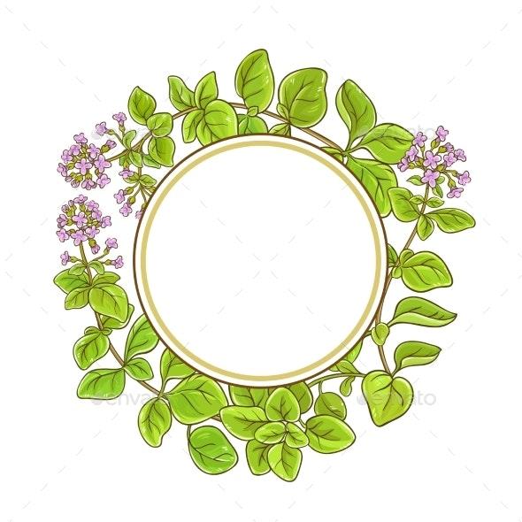 Oregano Branch Vector Frame - Health/Medicine Conceptual