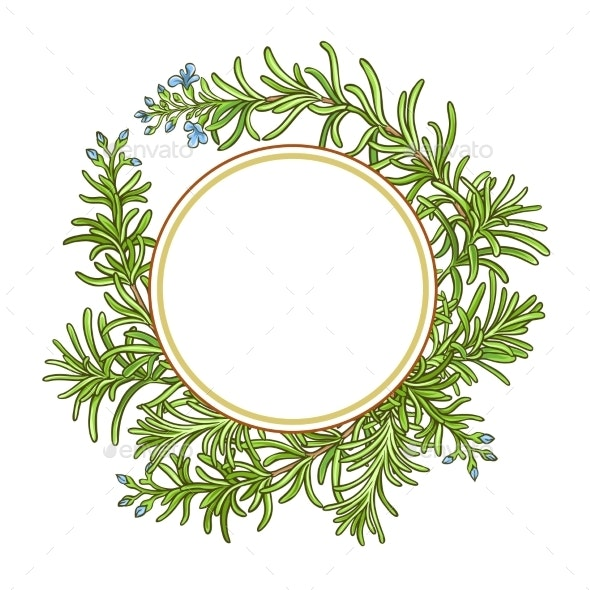 Rosemary Branch Vector Pattern - Food Objects