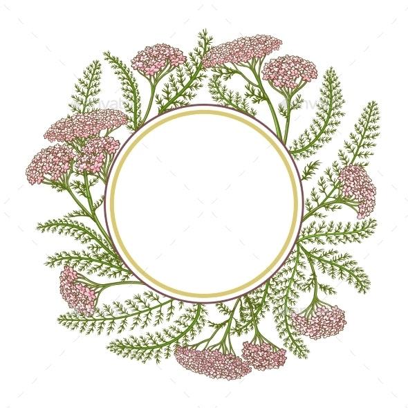 Milfoil Vector Frame - Flowers & Plants Nature