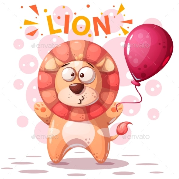Lion Character - Cartoon Illustration - Animals Characters