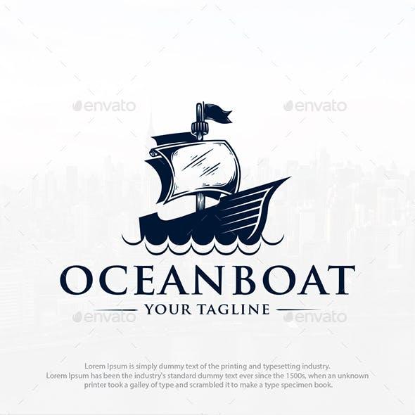Pirate Boat Logo Template