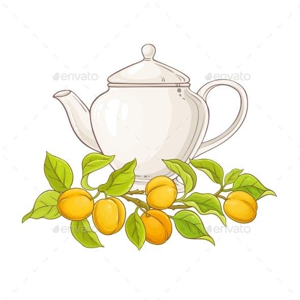Apricot Tea in Teapot