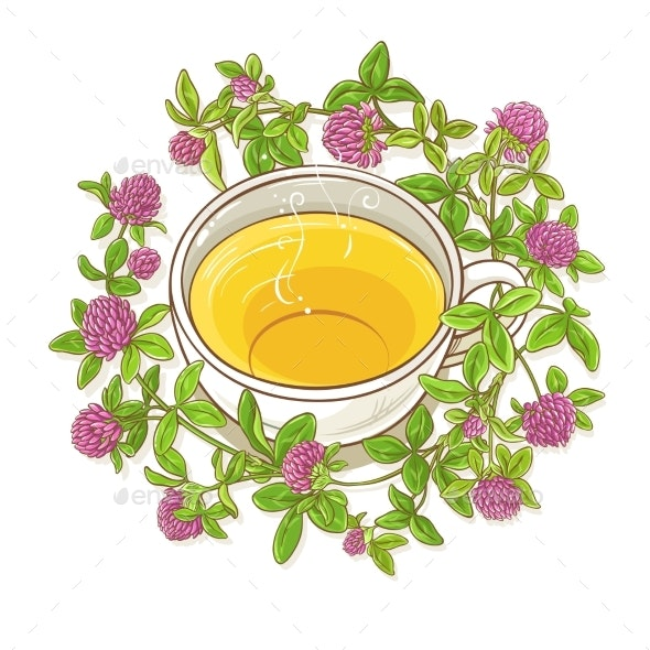 Clover Tea Illustration - Health/Medicine Conceptual