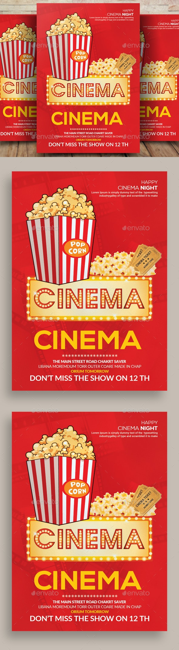 Cinema Club Flyers Template - Events Flyers