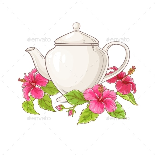 Hibiscus Tea Illustration - Health/Medicine Conceptual