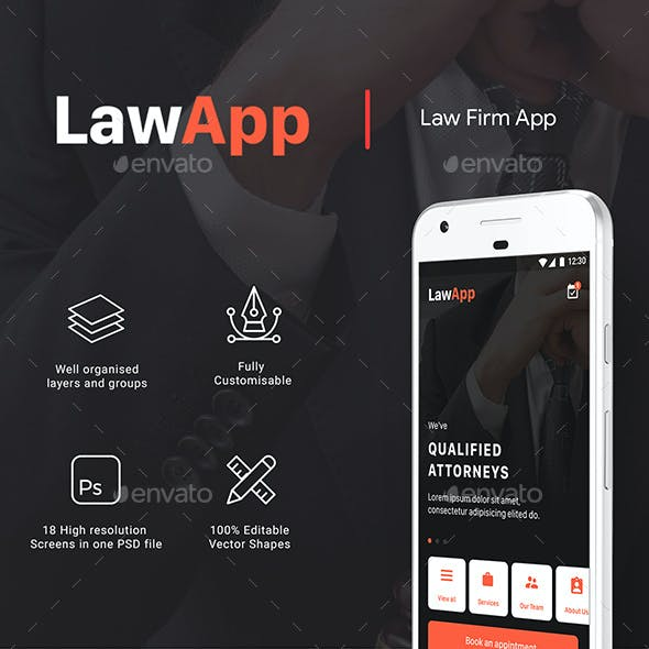 LAW App Multiple use App UI kit | LawApp