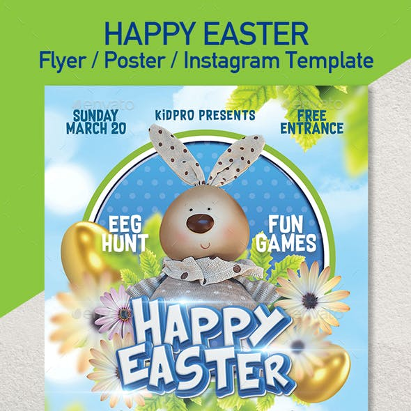 Happy Easter Event - Set of 3 Templates