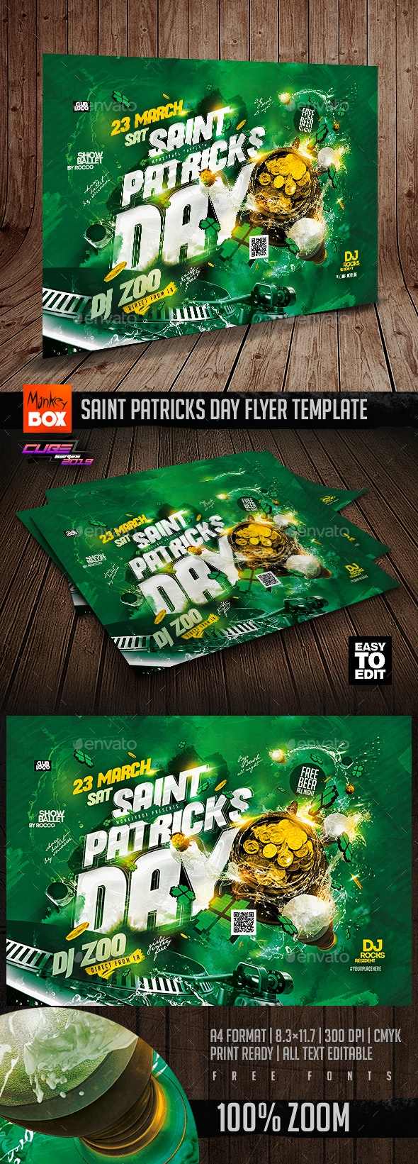 Saint Patricks Day Flyer Template - Clubs & Parties Events