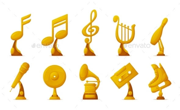 Music and Sport Awards Icons - Man-made Objects Objects