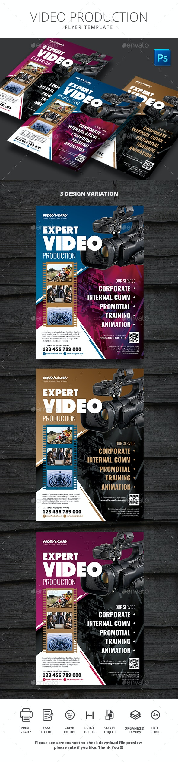 Video Production - Flyers Print Templates