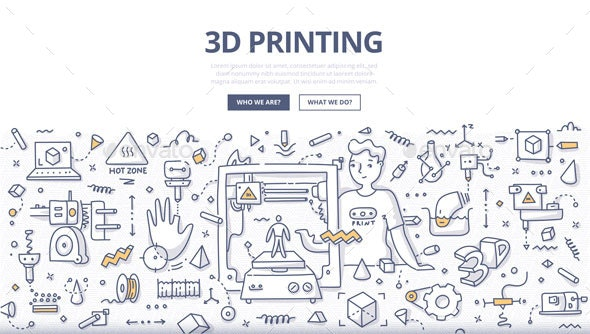3D Printing Doodle Concept - Computers Technology