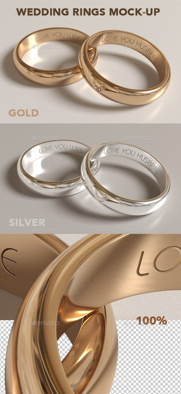 Wedding Rings Mock-up - Product Mock-Ups Graphics