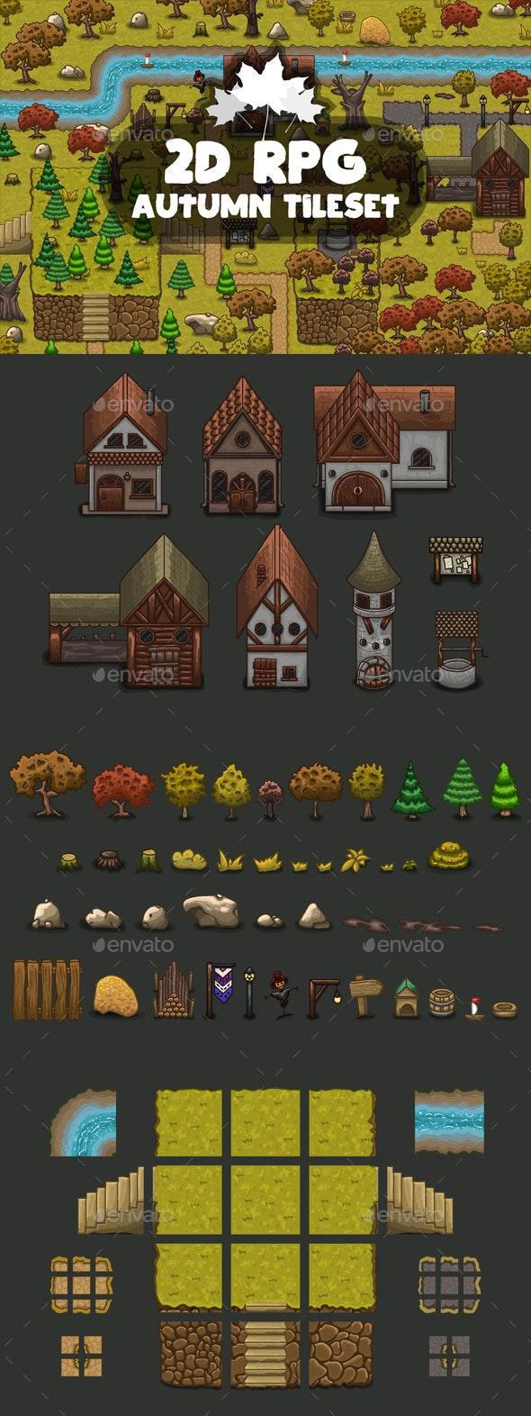 RPG Autumn Tileset - Tilesets Game Assets