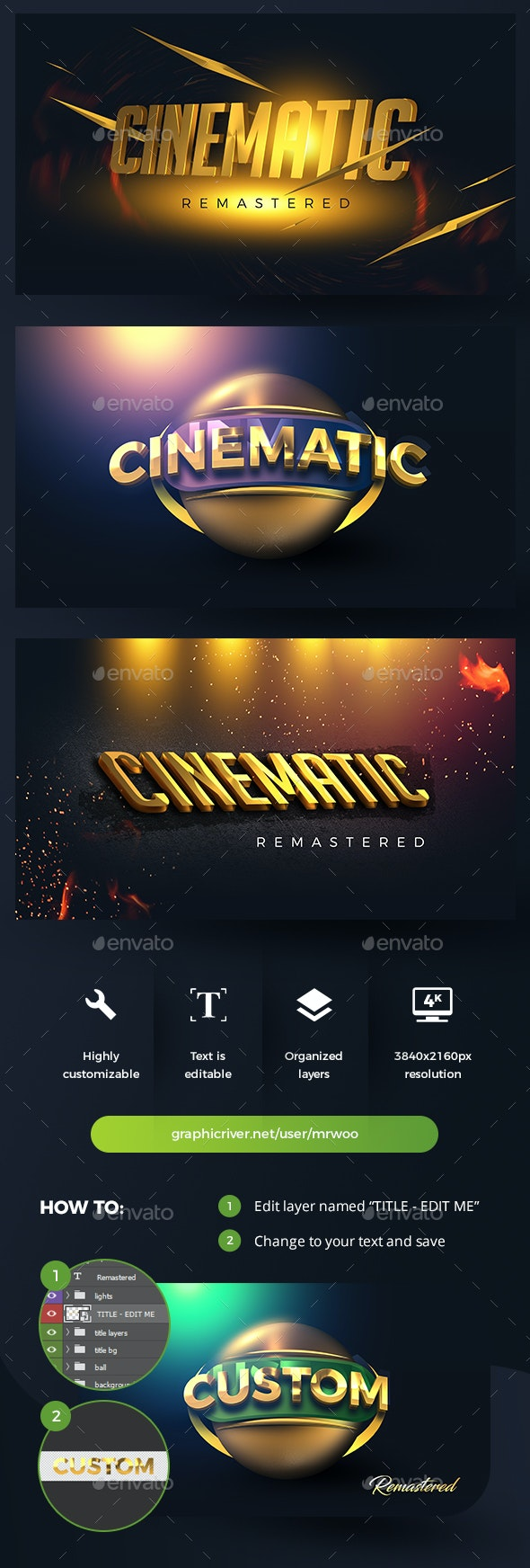 Cinematic Title Mock-ups - Miscellaneous Product Mock-Ups