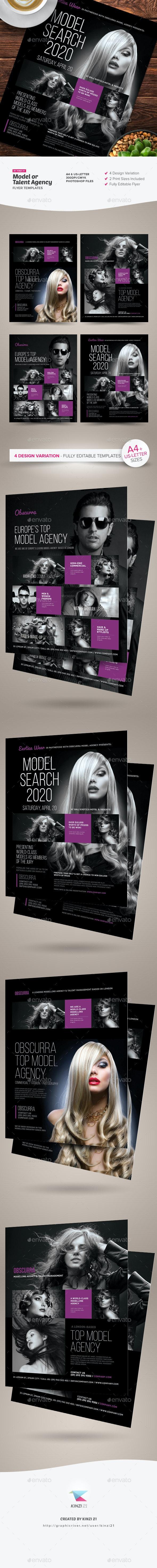 Model or Talent Agency Flyers - Corporate Flyers