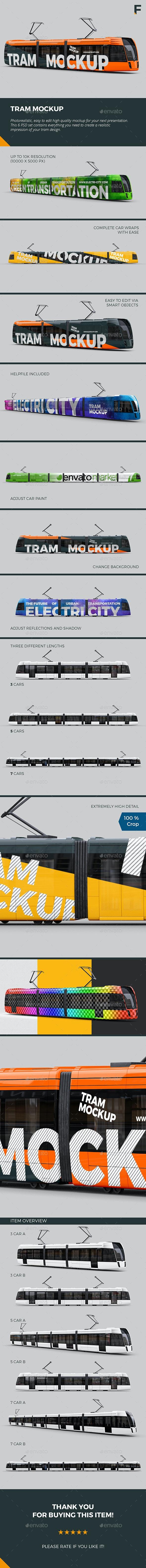 Tram Mockup - Vehicle Wraps Print