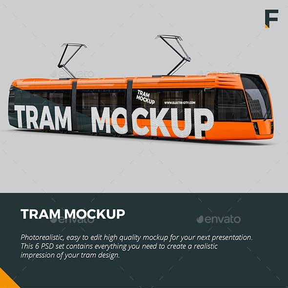Tram Mockup